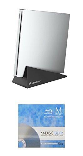 Pioneer 6x bdr-xu03Slim Tragbarer Blu-ray Brenner Bundle