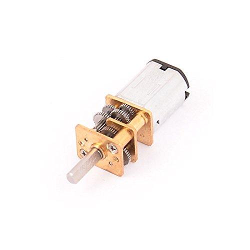 sourcingmap DC 6V 15RPM Hohes Drehmoment 3mm Schaft Durchmesser Niedrige Geschwindigkeit Lot Getriebe Motor Durchmesser Motor