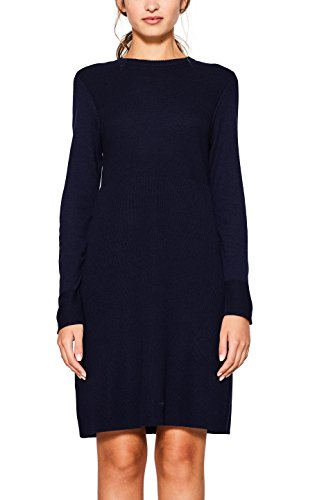 edc by ESPRIT Damen Kleid 107CC1E009 Blau (Navy 400), Medium