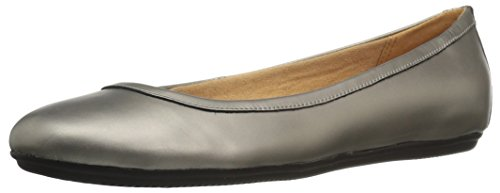Naturalizer Women's Brittany Ballet Flat, Pewter, 6.5 M US -