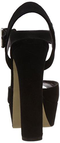 Sandalo Steve Madden Jillyy tacco camoscio nero Nero