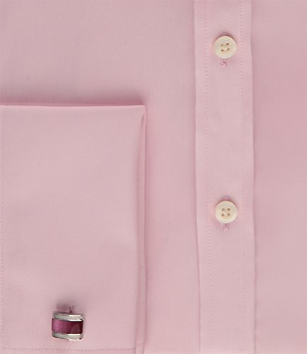 Hawes & Curtis Herren Business Hemd Extra Slim Fit Umschlagmanschette Kentkragen Rosa