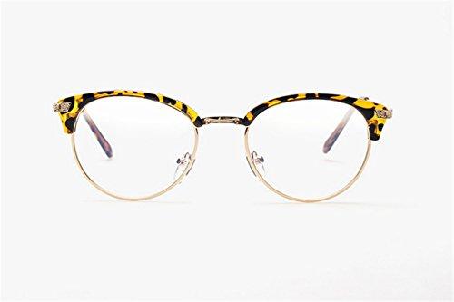 Fashion Glasses-brillenfassungen Strahlenschutz Brille Anti-Müdigkeit Anti-Blau, Leopard