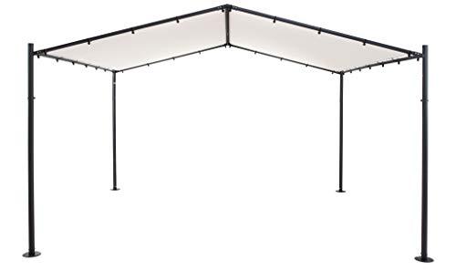 SORARA Pavillon   Sable   400 x 350 cm / 4 x 3.5m 250 g/m² Polyester (UV 50+)  pour Jardin, Patio, extérieur