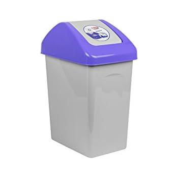 Captivating 10 L Mülleimer Abfalleimer Schwingdeckel Blau Mülltrennung Branq Kunststoff  öko