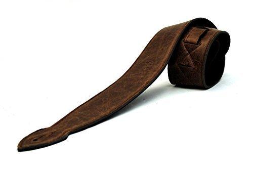 Echter Ledergitarrengurt verziert mit super weich super breit (6cm) -Design für akustische, elektrische oder Bassgitarren