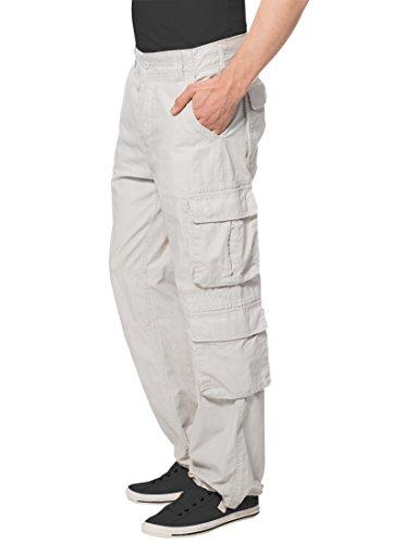 Lower East Herren Cargo Hose, in verschiedenen Farben Weiß (Alt-Weiß)