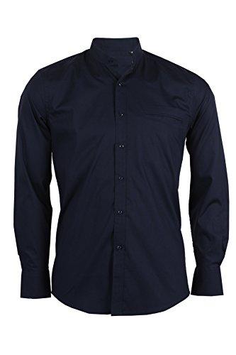 Camicia collo coreana blu, m-39/40