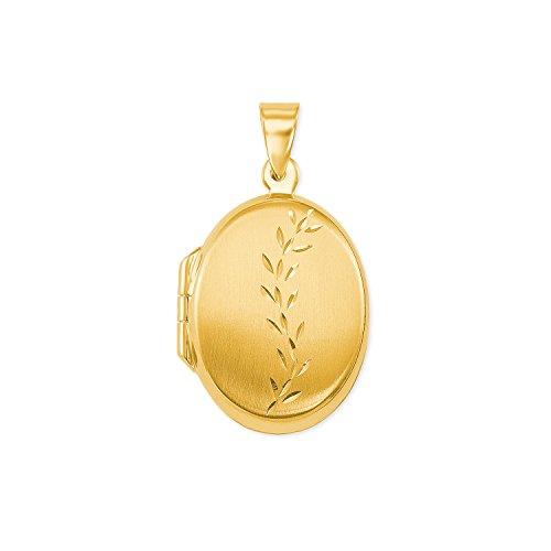 amor Medaillon-Anhänger klassich Gold 375 (Gold Medaillon Anhänger)