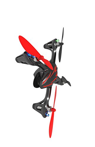 Hubsan Drohne H107C X4 Quadrocopter 2.4 Ghz 4 Kanal mit 480P Kamera (Rot Schwarz) - 5