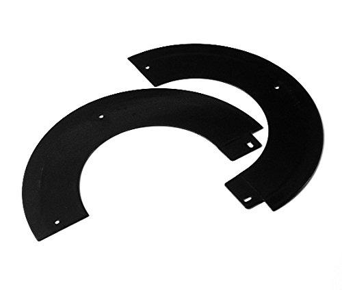ChimFit 6 Split Angled Rosette Collar Matt Black For Wood Burning Multifuel Stoves by ChimFit