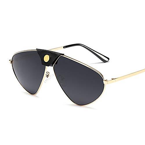 FYrainbow Metallisch polarisierte Sonnenbrille, Silikon-Nase Bequeme Sonnenbrille eignen Sich am besten zum Angeln Golf Outdoor-Shopping UV400,A
