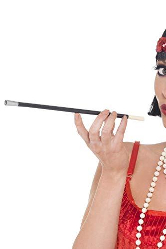 20er Jahre Stil Zigarettenhalter Schwarz, One Size (Audrey Hepburn Kostüm Perücke)