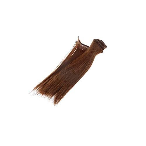 15cm muñeca peluca para BJD SD muñecas recta postizo sintético Artesanía pelo de las tramas de la peluca DIY Accesorio para Muñeca que hace la peluca