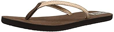 Reef Downtown Truss, Damen Sandalen Flipflops, Grau (Charcoal), 40 EU (7 UK)