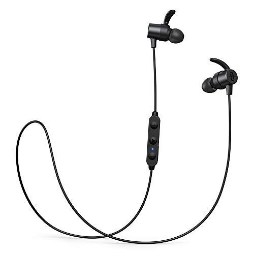 Bluetooth Kopfhörer in Ear,TaoTronics SoundElite 72 aptX HD Audio Bluetooth 5.0 Sportkopfhörer CVC8.0 Noise Cancelling IPX7 Wasserdicht 14 Stunden Wiedergabezeit 3 EQ Einstellungen Magnetisch Clip