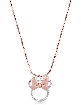 Disney Couture Minnie Maus Rocks Rose Vergoldet Lange Kristall Halskette