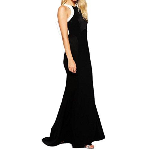 Waooh - Langes Kleid Mit Weißen Bogen Berry Schwarz