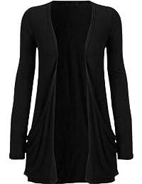 f39a1ca80 New Women Ladies Long Sleeve Boyfriend Cardigan with Pockets Plus Sizes 8-22
