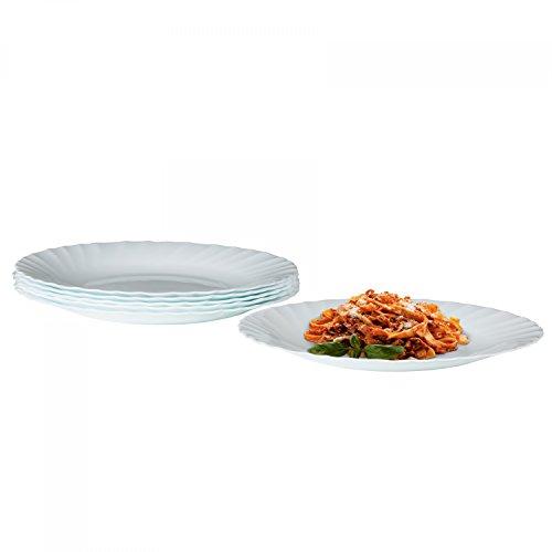 Bormioli Essteller Prima 6er Set   hitzebeständiges Opal-Hartglas   Spülmaschinen- und mikrowellenfest   großer Teller Speiseteller für 6 Personen