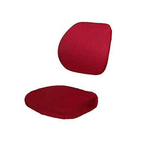 Sharplace Étui Housse De Bureau Chaise Protecteur Siége Élastique Spandex Couvertures Décor - rouge