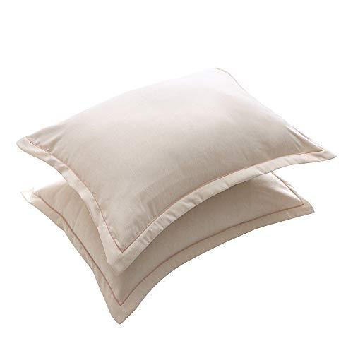 WFire Satin Kissenbezug für Haar und Haut, 2er-Pack - Queen Size (20x42 Zoll) Kissenbezüge - Satin Kissenbezüge mit Umschlagverschluss, beige, 51 * 76 cm 20 X 42 Satin