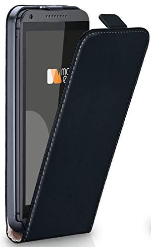 moex HTC Desire 816 | Hülle Schwarz 360° Klapp-Hülle Etui Thin Handytasche Dünn Handyhülle für HTC Desire 816/816G Case Flip Cover Schutzhülle Kunst-Leder Tasche