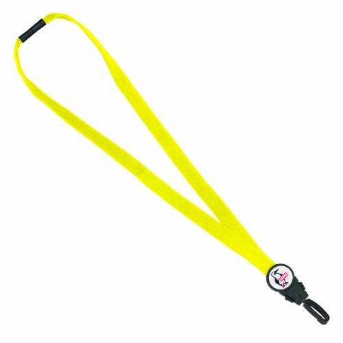 Hundespielzeug Sicherheit 11112Baumwolle abnehmbare abtrünnigen Lanyard mit rhook15j-clip Befestigung, gelb (6Stück)