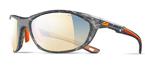 Julbo Race 2.0 Sonnenbrille Herren, Herren, J4823521, New Tortoise Grey/Orange/Logo Orange, one Size