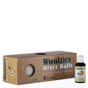 Woolzies 3Pack XL Wolle Trockner Bälle natur Stoff Wäsche weich & 100{d217e1f82a75c99fd210f9439a35ebc00c0baaf2e2350c4d48c63dcb15a1d86d} Pure Orange ätherisches Öl Combo (orange Öl)