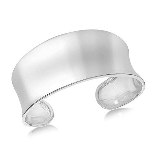 Tuscany Silver Damen Sterling Silber 17mm-30mm Concave Torque Armreif 8.35.1200