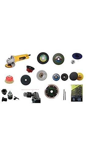 TOOLSCENTRE15-in-1 Angle Grinder Kit with Multiple Unique Accessories for Grinding, Cutting, Polishing and Drilling