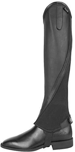 ELT Beinchaps Elegance schwarz Leder, Gr. S | Minichaps | Lederchaps | Reitchaps | Reitletten