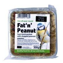Treat 'N' Eat Suet & Peanut Block Fat 'N' Peanut (300g) from Sharples & Grant