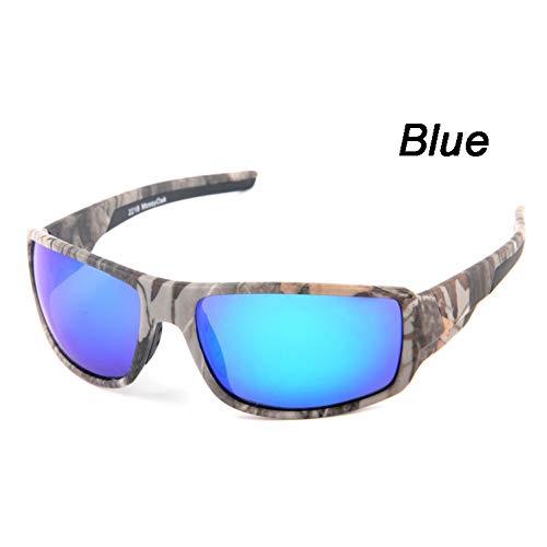 QXYJZS Fahrradbrille Herren Camo Polarisierte Sonnenbrille Driving Brille Camouflage Frame Herren Damen Brille