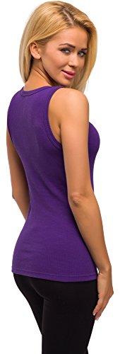 Merry Style Damen Unterhemd 3er Pack PD2X2 Violett
