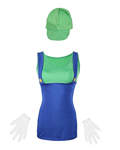 Ladies Luigi Plumber Outfit by Emma's Wardrobe