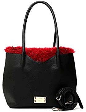 Cafè Noir LBK001 SHOPPING BAG DOUBLE FUR