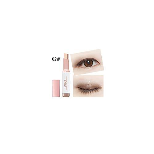 Zilosconcy Frauen Neuer Farbverlauf Zwei-Farben-Lidschatten-Stick Shimmer Palette Eye Cream Pen Schimmer und Matte Nudes Ultra Eyeshadows Flawless Palette