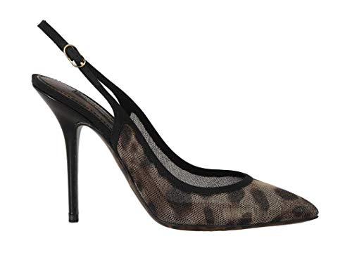 Dolce & Gabbana - Damen Schuhe - Pumps Brown Leopard Stretch Slingbacks Shoes Dolce & Gabbana Print-heels