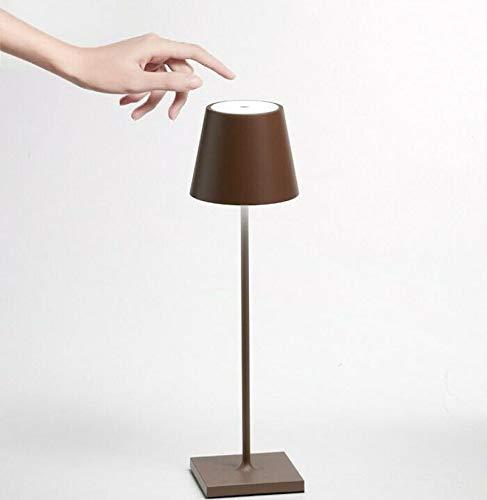 Ai Lati Lights - Poldina | Lampada ricaricabile LED da tavolo senza fili | corpo in alluminio verniciato | ricaricabile | protezione IP54 adatta per interni ed esterni | colore Corten