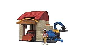 Simba Dickie 203133011Bob el Constructor garajes Juego, 10x 12cm