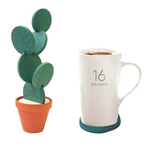 Cara Untersetzer, kreativer DIY Kaktus-Tassenhalter, Aufbewahrung, Rutschfeste Isolierung, Untersetzer