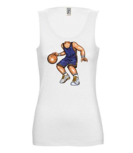 Artdiktat Damen Tank Top - BASKETBALL PLAYER Größe XL, (Maske Basketball Kostüm)