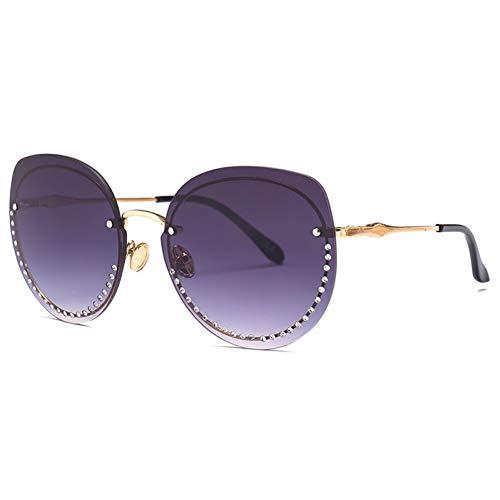 YLNJYJ Übergroße Diamant-Art- Und Weisespitzen-Sonnenbrille Uv400 Schattiert Randlose Modische Reizvolle Vorzügliche Qualitäts-Sonnenbrille Für Mann Neu
