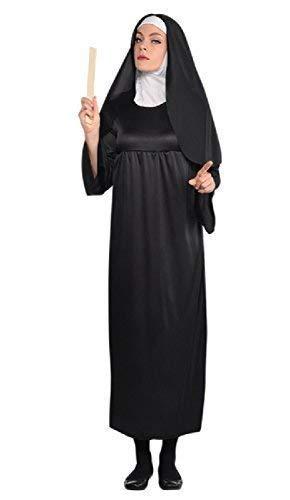Katholische Nonne Kostüm - Damen Lang Länge Schwester Nonne Religiös Traditionell Katholische Uniform Tarts und Pfarrer Kostüm Kleid Outfit
