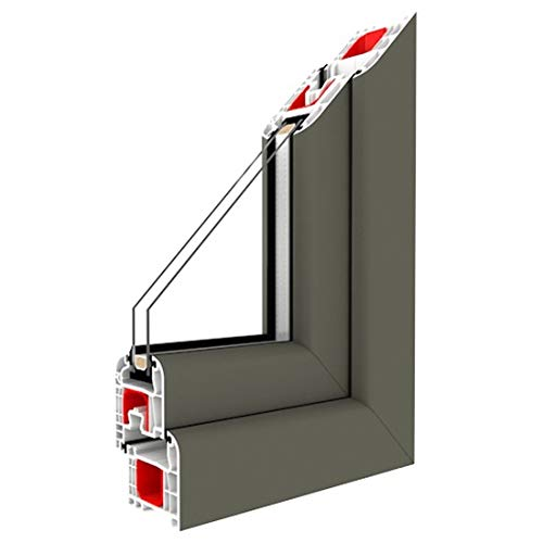 Festverglasung Fenster Basaltgrau Glatt beidseitig 1 flg. Fest im Rahmen, Glas:2-Fach, BxH:1200x800