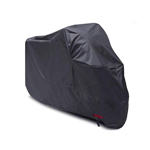 Telone Occhielli Impermeabile Copertura Copertura per Mobili Copri Moto Parapolvere Antipioggia per Veicoli Protezione Solare per Esterni, 3 Colori (Color : Black, Size : 220x95x110cm)