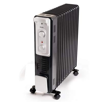 Glen 7015 11 Fins Electric Oil Filled Radiator Room Heater...