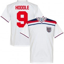 1982 England Home Retro Trikot + Hoddle 9 - S